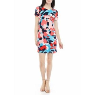 ナインウェスト レディース ワンピース トップス Women's Short Sleeve Floral T-Shirt Dress Siren Blue/Peach Combo