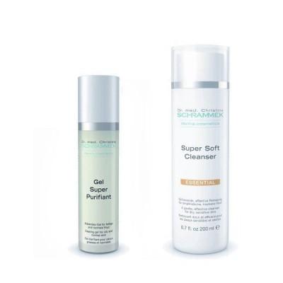 シュラメック 「GREEN PEEL 洗顔2点セット(ノーマル肌・敏感肌・乾燥肌用)」 スーパーソフトクレンザー&ジェルスーパーピュリフィア