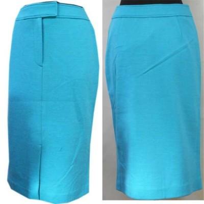 ジャージニット素材のセンタースリットスカート(水色)サイズS・M・Lあり