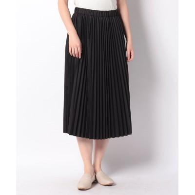 (MARcourt/マーコート)【MIDIUMISOLID】pleats skirt/レディース BLACK