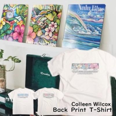 【Colleen Wilcox】 コリーンウィルコックス ハワイアン バックプリント クルーネック Tシャツ レコードジャケット モチーフ 3点セット