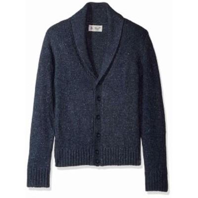 Original Penguin オリジナルペンギン ファッション トップス Original Penguin Mens Sweater Navy Blue Size Medium M Button Cardigan