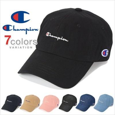 チャンピオン キャップ ローキャップ デニム コットン メンズ レディース CHAMPION 帽子 ロークラウン LOW CAP GOLF ゴルフ ストラップバック S