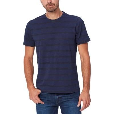 ペイジ メンズ Tシャツ トップス Hoover Striped Crew Neck T-Shirt EVSTORM