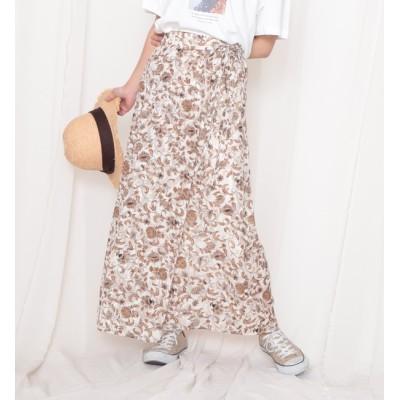 【チーク/Cheek】 フラワーラップスカート