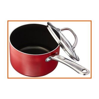 (Medium, Red) - Farberware Buena Cocina Aluminium Nonstick Covered Saucepan, 2.8l, Red
