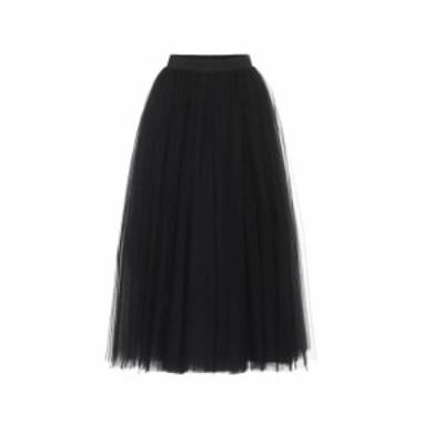 ドルチェandガッバーナ Dolce and Gabbana レディース ひざ丈スカート スカート tulle midi skirt Black