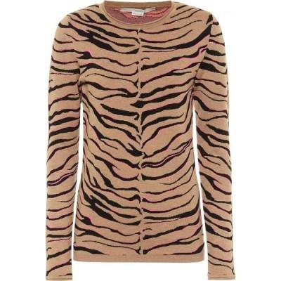 ステラ マッカートニー Stella McCartney レディース ニット・セーター トップス leopard-print intarsia wool-blend sweater Multicolor