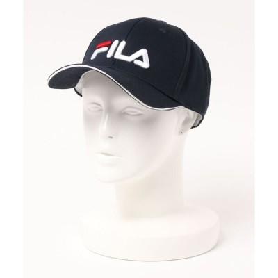 帽子 キャップ 【FILA:フィラゴルフ】ツイルロゴキャップ ユニセックス  ゴルフ スポーツカジュアル  スポーティー