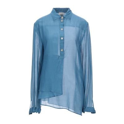 アリジ ALYSI シャツ アジュールブルー 46 コットン 72% / シルク 28% シャツ