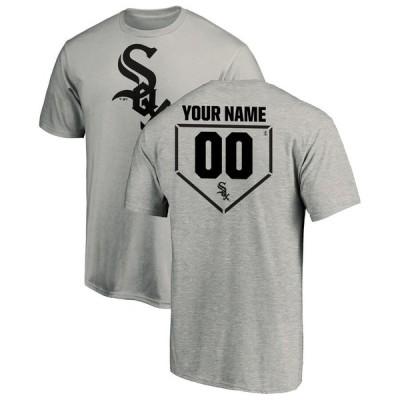 シカゴ・ホワイトソックス Fanatics Branded Personalized RBI Logo T-シャツ - Heathered Gray