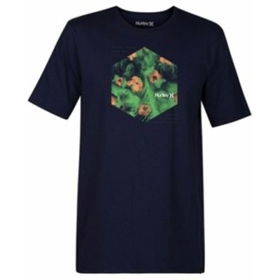 Hurley ハーレー ファッション トップス Hurley Mens T-Shirt Dark Navy Blue Size XL Watercolor Graphic Crewneck 170