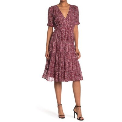 バッシュ レディース ワンピース トップス Dais Patterned Silk Blend Dress RED