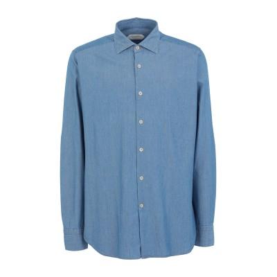 GUGLIELMINOTTI シャツ ブルー 38 コットン 100% シャツ