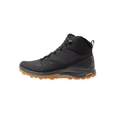 サロモン ブーツ&レインブーツ メンズ シューズ OUTSNAP CSWP - Winter boots - black/ebony