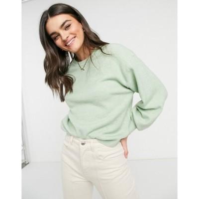 エイソス レディース ニット・セーター アウター ASOS DESIGN oversized fine crew neck sweater in green