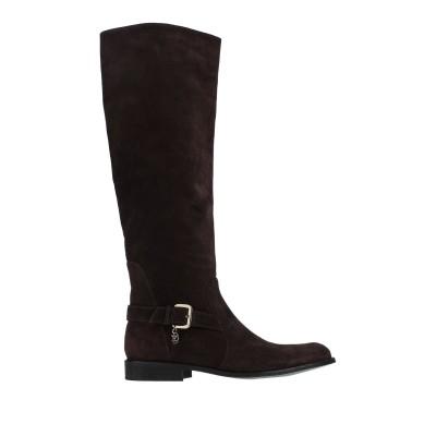 パトリツィア ペペ PATRIZIA PEPE ブーツ ダークブラウン 36 革 ブーツ