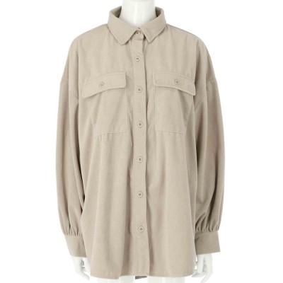 ANAP フェイクスエードオーバーサイズシャツ(アイボリー)