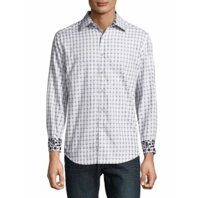 ロバートグラハム メンズ カジュアル ボタンダウンシャツ Microcar Printed Cotton Casual Button-Down Shirt