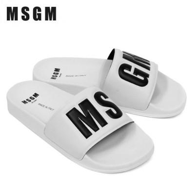 エムエスジーエム MSGM  MSGMロゴ スライド シャワーサンダル【ホワイト】 3040MS15100 300 01/【2021SS】m-shoes