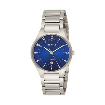 BERING Time | Men's Slim Watch 11739-707 | 39MM Case | Titanium Collection | Titanium Strap | Scratch-Resistant Sapphire Crystal | Minimalis