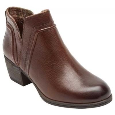 ロックポート Rockport レディース ブーツ シューズ・靴 Cobb Hill Anisa VCut Bootie Tan Leather