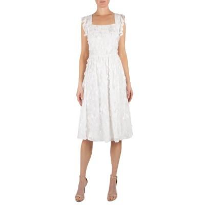ジュリア ジョーダン ワンピース トップス レディース Romantic Floral AppliquFit & Flare Dress Ivory