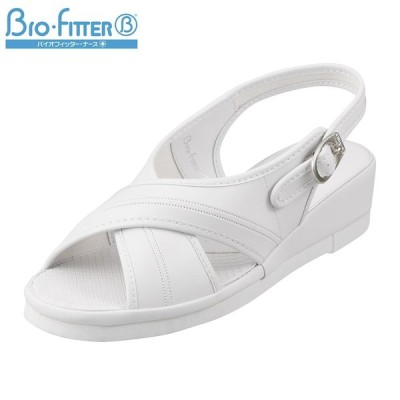 バイオフィッター ナース Bio Fitter BFN25062 レディース | ナースサンダル | 大きいサイズ対応 | ホワイト
