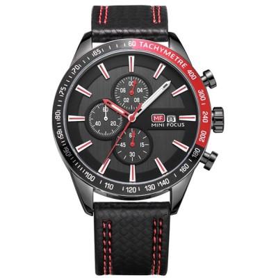 MINI_FOCUS_MF0029G多機能男性の腕時計は、サブダイヤルクォーツ運動腕時計を動作させる
