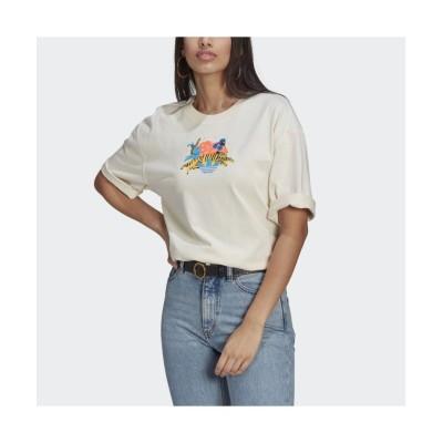 (adidas Originals/アディダス オリジナルス)アディカラー エッセンシャルズ × Egle Tシャツ/レディース ホワイト
