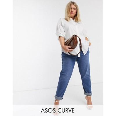 ヴェロモーダ Vero Moda Curve レディース ブラウス・シャツ ロング トップス longline shirt in white ホワイト