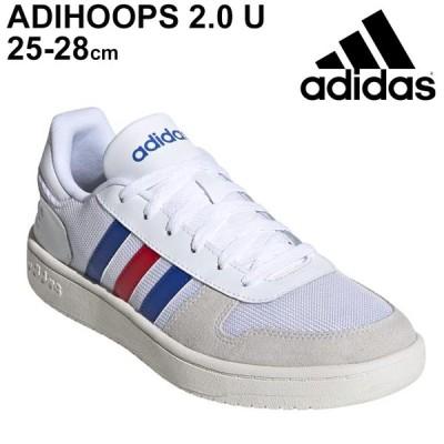 スニーカー メンズ シューズ ローカット アディダス adidas アディフープス ADIHOOPS 2.0 U/スポーツ カジュアル 白 ホワイト 靴 男性 バッシュスタイル /FW8250