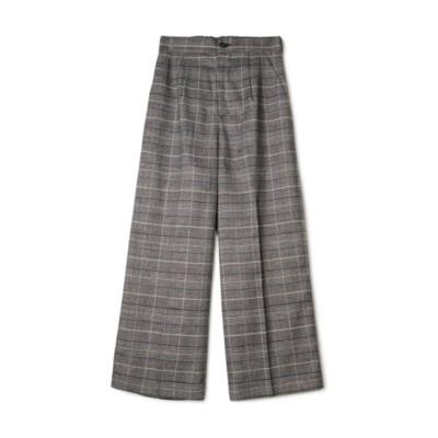 【フラワー/flower】 mannish check pants ~マニッシュチェックパンツ