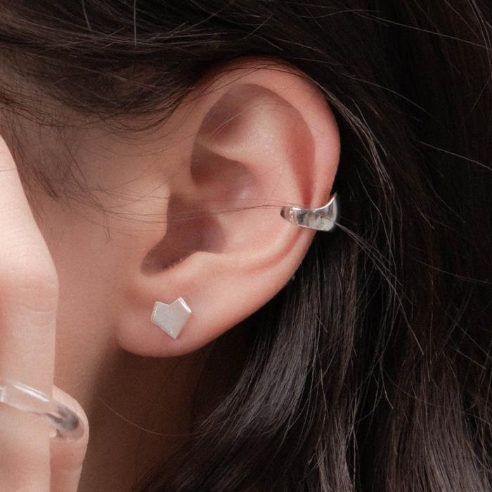  純銀 極簡主義.單支耳骨夾
