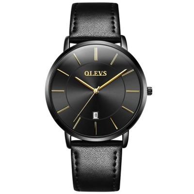 OLEVS(オレブス) メンズ超薄型 合金腕時計 クオーツアナログカレンダー 日付窓 ビジネスカジュアル 超薄型ウオッチ