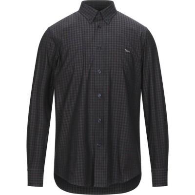 ハーモント アンド ブレイン HARMONT&BLAINE メンズ シャツ トップス checked shirt Steel grey