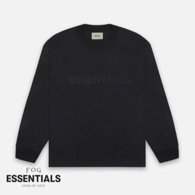 フィアオブゴッド エッセンシャルズ FOG Fear Of God SS20 Essentials Long Sleeve Tee Black ブラック Tシャツ ロンT 長袖 メンズ アメリカ 正規品[衣類]