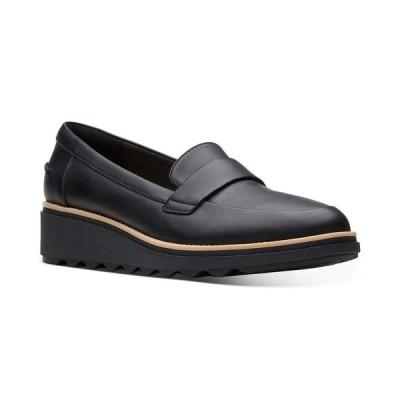 クラークス サンダル シューズ レディース Collection Women's Sharon Gracie Platform Loafers,  Black Smooth Leather