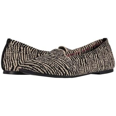 スケッチャーズ Cleo - Knitty Kitty レディース フラットシューズ Natural/Black