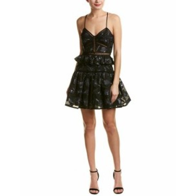 Rebecca Taylor レベッカテイラー ファッション ドレス Rebecca Taylor Floral Jacquard Silk-Trim A-Line Dress