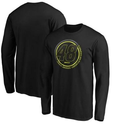 ユニセックス スポーツリーグ モータースポーツ Jimmie Johnson Fanatics Branded Stealth Pop Revive Long Sleeve T-Shirt - Black
