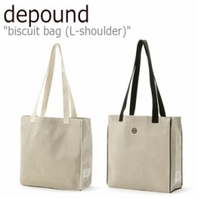 デパウンド エコバッグ depound レディース biscuit bag (L-shoulder) ビスケット バッグ L ショルダー IVORY BLACK 300918254/6 バッグ