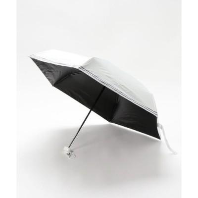 折りたたみ傘 超軽量晴雨兼用折りたたみ日傘 5段ミニ ボーダー