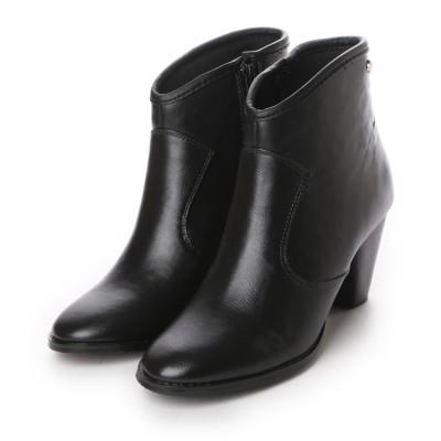 フォーパ パリ FAUX PAS PARIS HEEL SHORT BOOTS (Black)