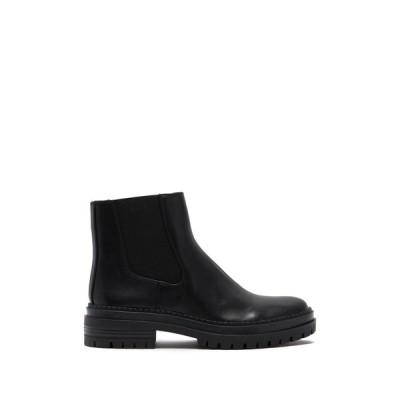 フォースアンドユニオン レディース ブーツ&レインブーツ シューズ Elliot Faux Leather Lug Sole Chelsea Boot BLACK