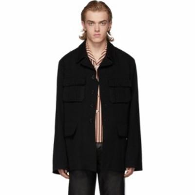 アンドゥムルメステール Ann Demeulemeester メンズ ジャケット ミリタリージャケット アウター black wool military jacket Black