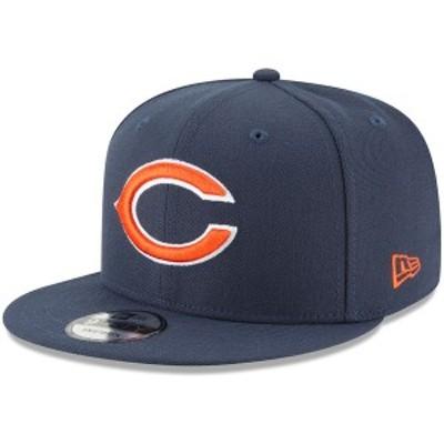 ニューエラ メンズ 帽子 アクセサリー Chicago Bears New Era Basic 9FIFTY Adjustable Snapback Hat Navy