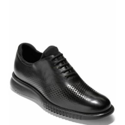 コールハーン メンズ ドレスシューズ シューズ Men's 2.ZEROGRAND Laser Cut Leather Wingtip Oxfords Black/Black