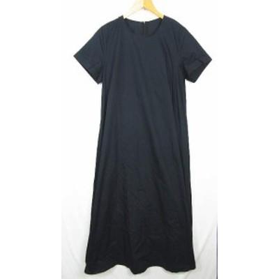 【中古】未使用品 ティティベイト titivate ワンピース ロング丈 半袖 コットン ブラック M so0205 レディース