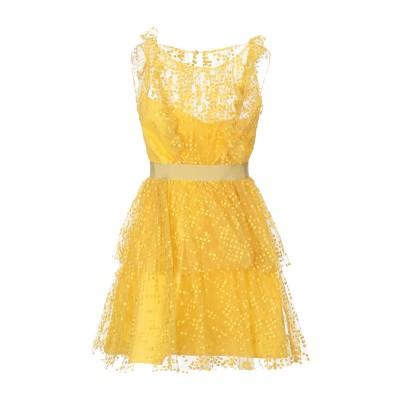 SI-JAY ミニワンピース&ドレス イエロー 40 ナイロン 100% ミニワンピース&ドレス